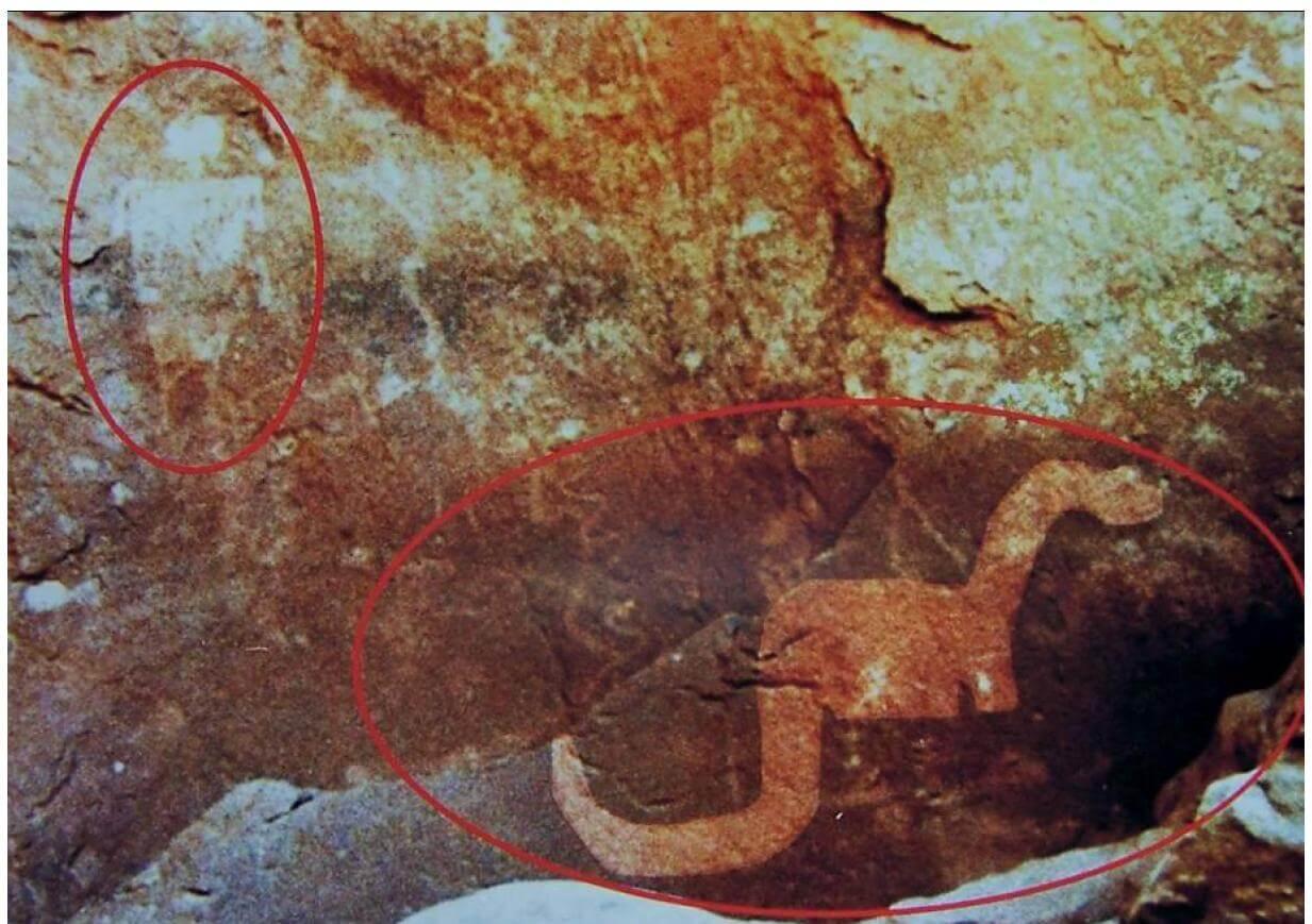cave drawings dinosaurs